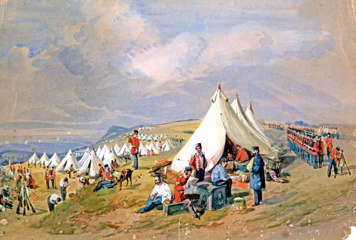 Napoleonic troops ancamped at Dover by William Burgess
